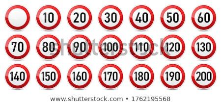ограничение · скорости · дорожный · знак · 30 · дерево · весны · дороги - Сток-фото © duoduo