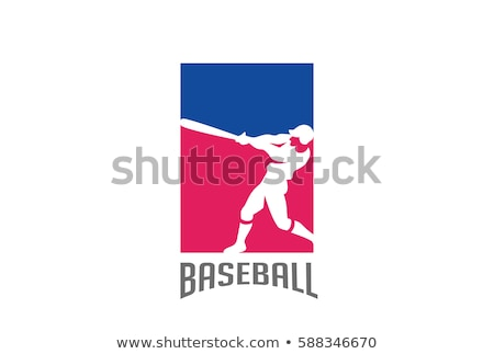 Baseball Player Batting Vector Design Template stock photo © chromaco
