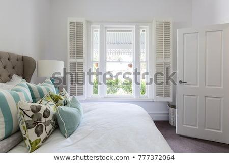 Obturador ventana verde Windows rosa pared Foto stock © bbbar