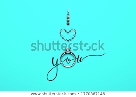 glamorous heart of gold and diamonds stock photo © tottoro