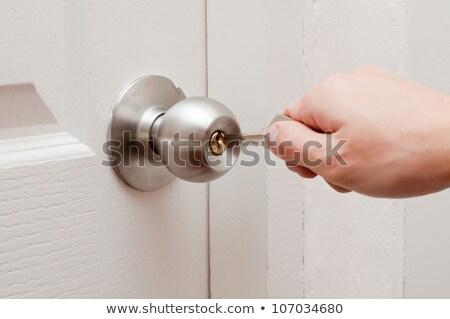 puerta · casa · espacio · rojo · oro · bloqueo - foto stock © photography33