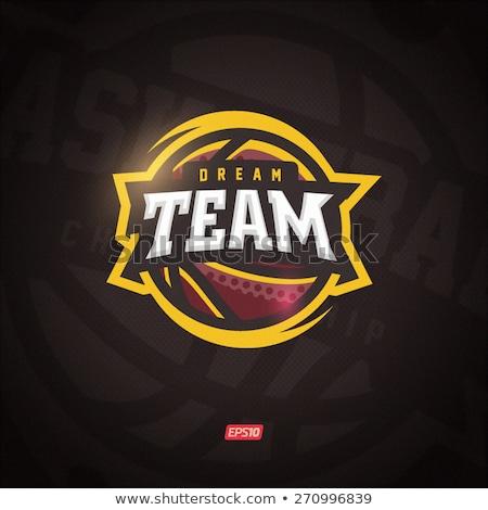basketbol · takım · logo · vektör · ressam · can - stok fotoğraf © garyfox45116