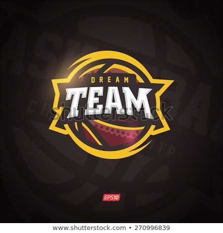 kosárlabda · csapat · logo · vektor · illustrator · konzerv - stock fotó © garyfox45116