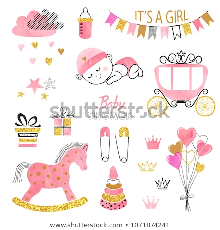Baby Girl in Baby Carriage Stock photo © indiwarm
