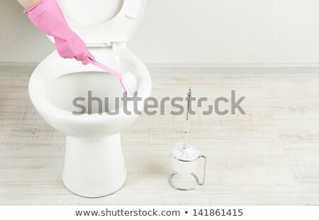 Bathroom and restroom cleaning brush  Stock photo © JohnKasawa