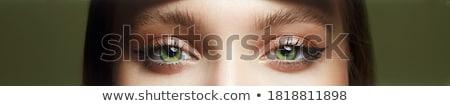 Stock fotó: Közelkép · ajkak · lány · szem · arc · divat