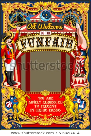 funfair on vintage background Stock photo © chrisroll