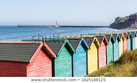 Colorido praia abstrato edifícios inglaterra Foto stock © speedfighter