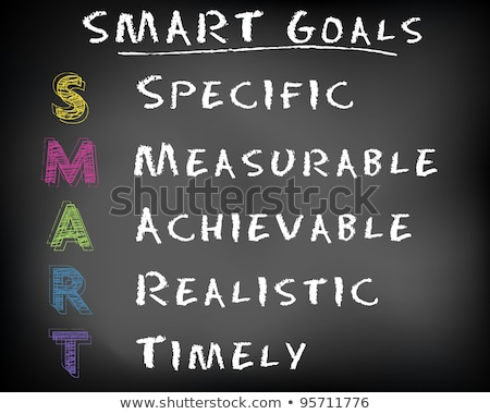 Chalk drawing of SMART Goals acronym on a blackboard  Stock photo © bbbar