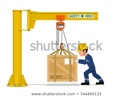 Crane lifting a wooden structure Stock photo © photography33