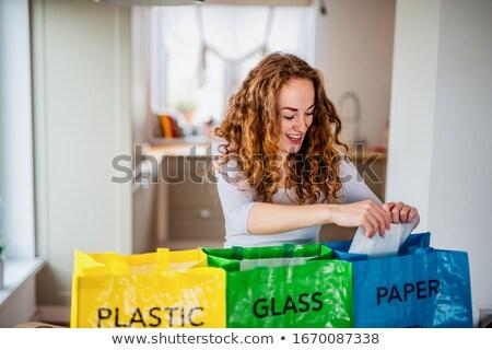 śmieci · gospodarstwo · domowe · odpadów · miasta · ulicy · zielone - zdjęcia stock © photography33