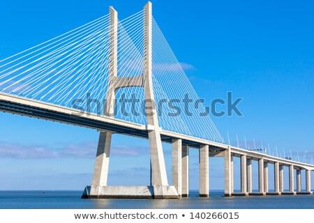 Puente colgante contemporáneo forma Varsovia Polonia Foto stock © rognar