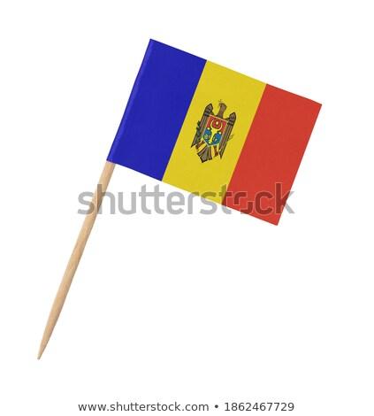 Minyatür bayrak Moldova yalıtılmış Stok fotoğraf © bosphorus