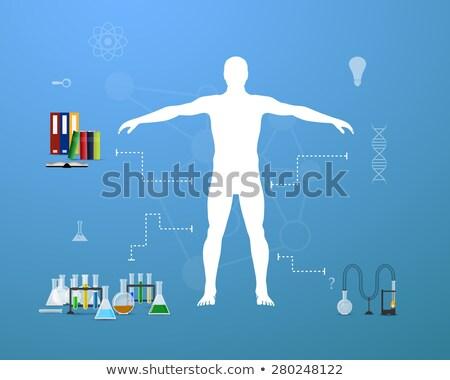 фармацевтический диаграмма гистограмма белый медицинской группа Сток-фото © timbrk