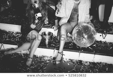 Рождества женщину Disco Ball фотография довольно Сток-фото © feedough