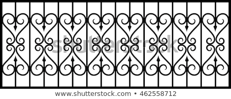 Wrought Iron Gates, vintage engraved illustration Stock photo © fenton