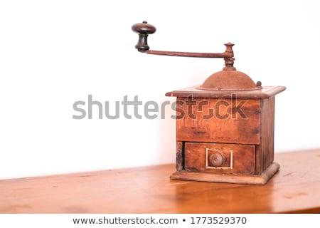 コーヒー ミル 豆 黄麻布 グランジ デザイン ストックフォト © adam121