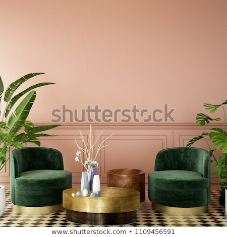 foto · klassiek · fauteuil · muur · home · kunst - stockfoto © sumners