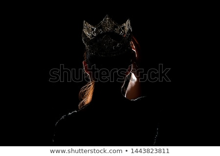Kız gümüş top klasik artistik çıplaklık Stok fotoğraf © dolgachov