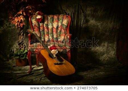 İspanyolca · klasik · katı · caz · hüzün · gitar - stok fotoğraf © hofmeester