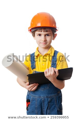 portrait of a little boy in construction clothes stock photo © photography33