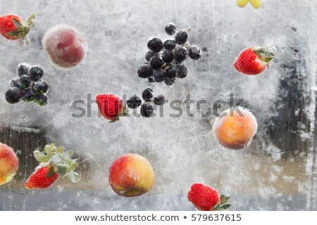 Ice cube and blue grapes Stock photo © Givaga