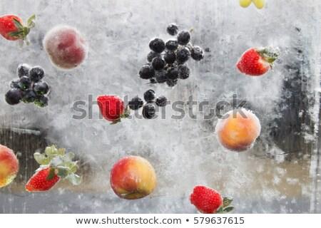 Ice cube azul uvas isolado branco abstrato Foto stock © Givaga