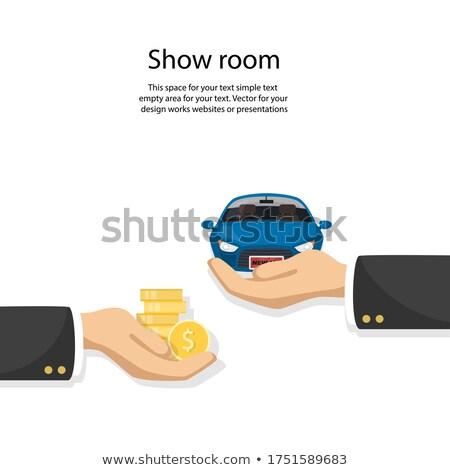 Carro moedas modelo metal financiar ouro Foto stock © a2bb5s