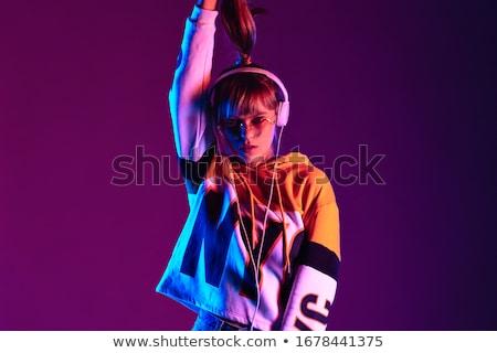 代 · イヤホン · 肖像 · 少年 · 着用 · 眼鏡 - ストックフォト © natalinka