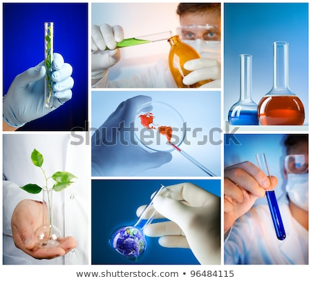 collage with scientist in laboratory stock photo © adam121