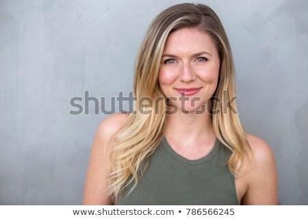 Portré flörtölő nő portré nő szépség piros Stock fotó © photography33