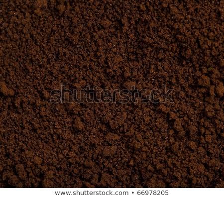 koffie · poeder · textuur · extreme · foto - stockfoto © tashatuvango