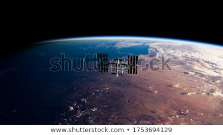 орбита закат иллюстрация планеты пространстве солнце Сток-фото © IngaNielsen