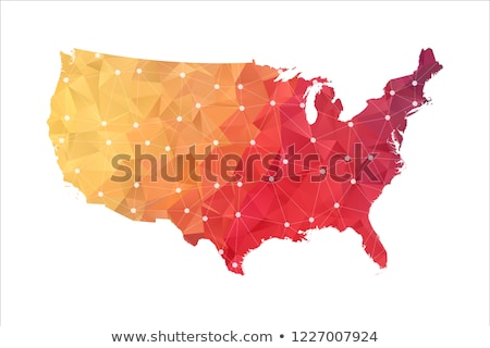 Сток-фото: Alaska Red Abstract 3d State Map United States America