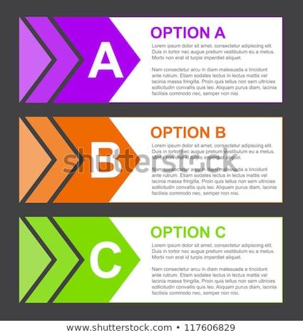 Optie blokken kort beschrijving paars oranje Stockfoto © liliwhite