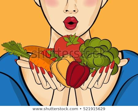 pomidorów · strony · żywności · włosy - zdjęcia stock © photography33
