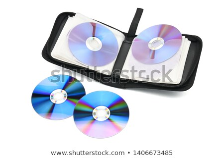 Isolado cd carteira fechado branco computador Foto stock © taviphoto
