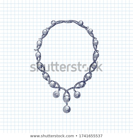 Ancient style necklace with garnet Stock photo © ruzanna