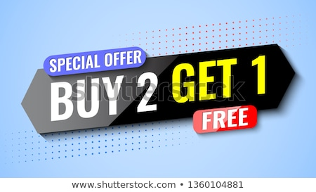 buy one get two red banner Stock photo © marinini