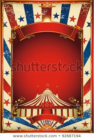 цирка Америки плакат американский текстуры американский флаг Сток-фото © tintin75