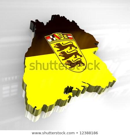 кнопки · карта · стране · желтый · флагами · границе - Сток-фото © Ustofre9