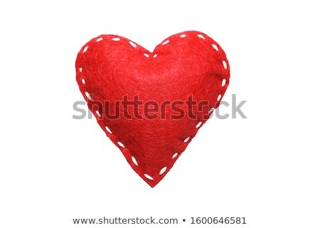 Szívek fehér piros absztrakt szépség klasszikus Stock fotó © Quka