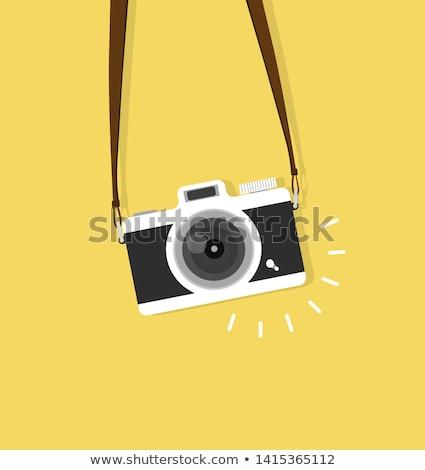 Fotograaf camera portret mannelijke geïsoleerd witte Stockfoto © elenaphoto