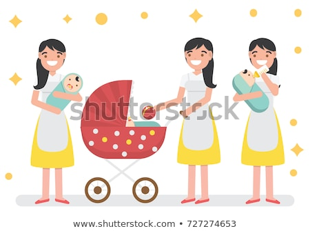 Baby Sitter - Cartoon Character - Vector Illustration stock photo © indiwarm