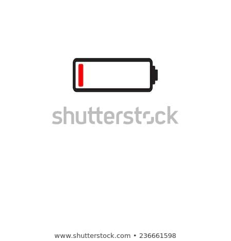 Baixo assinar vermelho poder químico moderno Foto stock © dacasdo