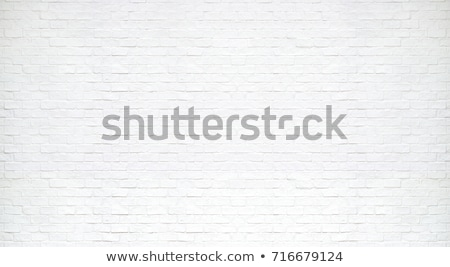 Stock photo: white textured brick wall painted