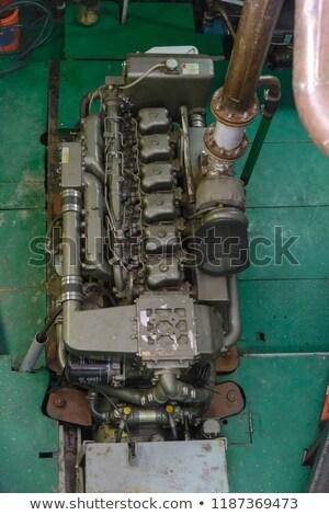 Marinha motor diesel marca novo azul Foto stock © Stocksnapper