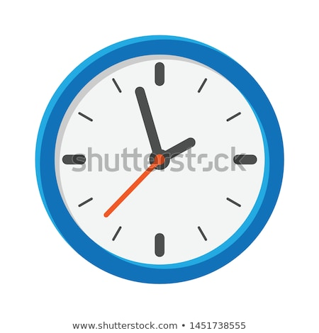 Analog Blue Clock Illustration Stock photo © make