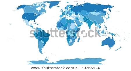 world map  on an orange background Stock photo © Zhukow