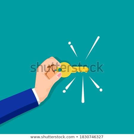 sleutel · sterretje · business · lichten · succes · vuurwerk - stockfoto © Paha_L
